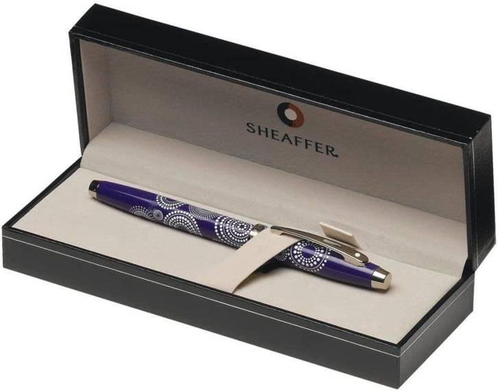 9271 PN Pióro wieczne Sheaffer kolekcja 100, fioletowy, wzór, wykończenia chromowane